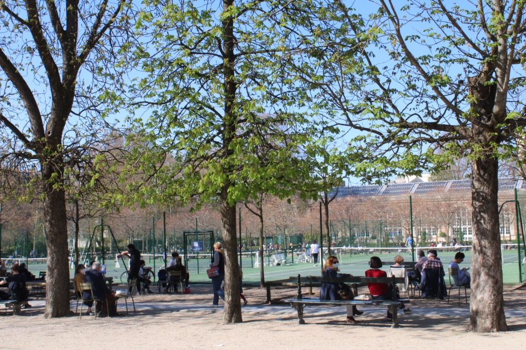 terrains de tennis du jardin du Luxembourg